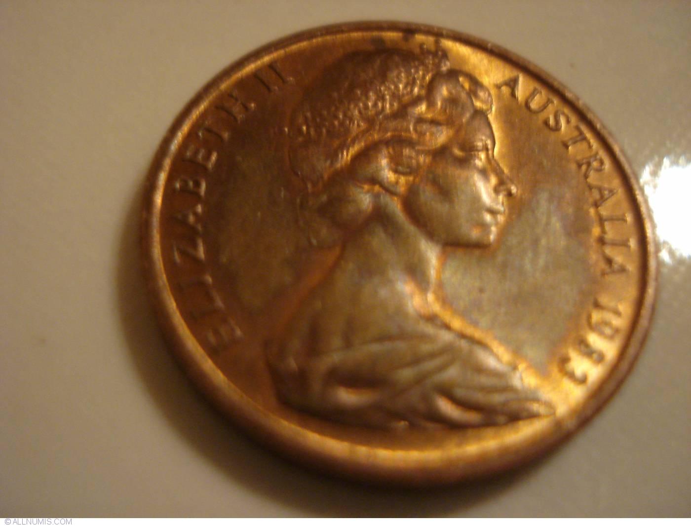 1983 Australia 1 Cent /& 2 Cent Uncirculated Coins Elizabeth II  in 2 x 2 Holder