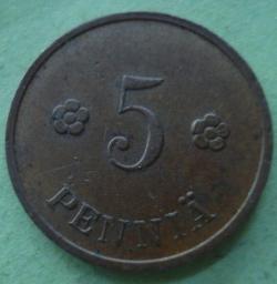 5 Pennia 1934
