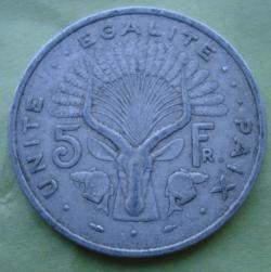 Image #1 of 5 Francs 1986