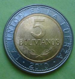 Image #1 of 5 Bolivianos 2010