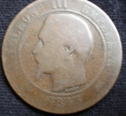 Image #2 of 10 Centimes 1853 D