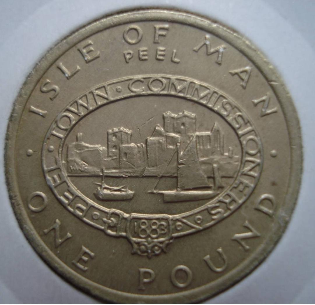 1983 issue Isle of Man P-40 UNC AA-Pref QEII ND 1 pound 2009 sig 40c