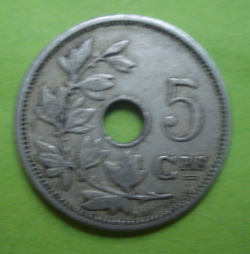 Image #1 of 5 Centimes 1907 (Belgique)