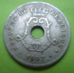 Image #2 of 5 Centimes 1907 (Belgique)