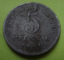 Image #1 of 5 Pfennig 1921 J