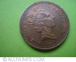 Image #2 of [EROARE] 1 Penny 1996/5 - eroare de batere