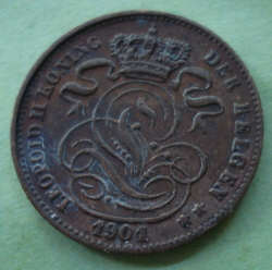 Image #2 of 1 Centime 1901 (Dutch)