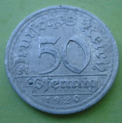 Image #1 of 50 Pfennig 1920 G
