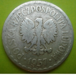 Image #2 of 1 Zloty 1957