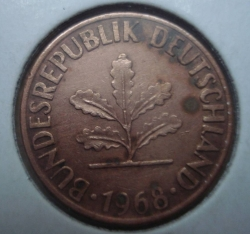 Image #2 of 1 Pfennig 1968 J