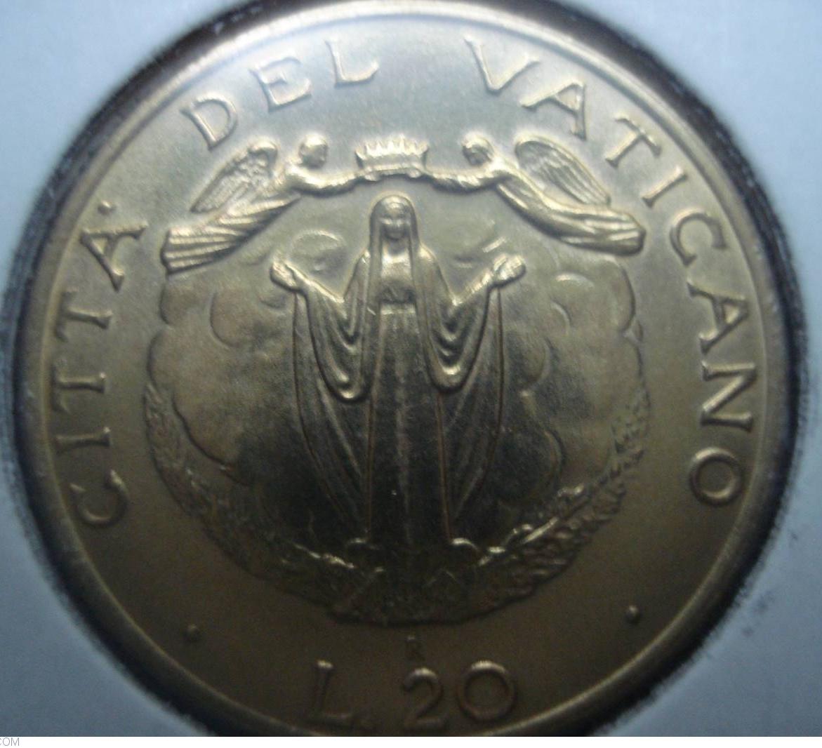 FDC VATICANO 20 Lire 1987 2.539
