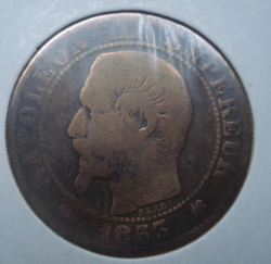 Image #2 of 5 Centimes 1853 K