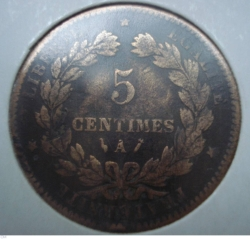 Image #1 of 5 centimes 1884 A