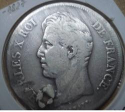 Image #2 of 5 Francs 1827 Q