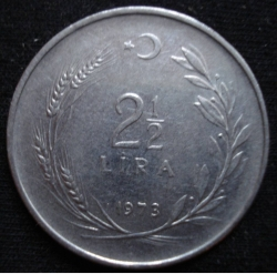 Image #1 of 2 1/2 Lira 1973