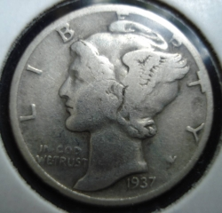 Image #2 of Dime 1937 D