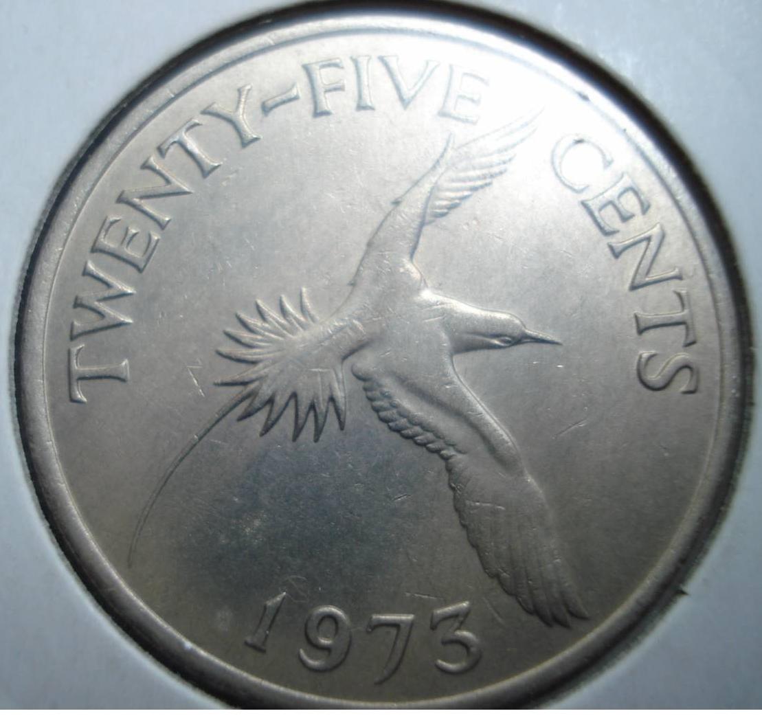 Bermuda 1970 25 Cents Uncirculated KM18