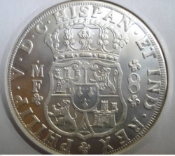 Image #2 of Mexico 8 Reales 1739  REPLICA