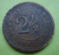 Image #1 of 2 1/2 centavos 1885