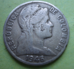 Image #2 of 5 Centavos 1946 - Large date