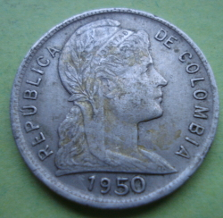 Image #2 of 5 Centavos 1950 - Large 50 in date