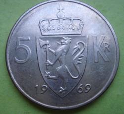 Image #1 of 5 Kroner 1969