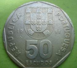 Image #1 of 50 Escudos 1991