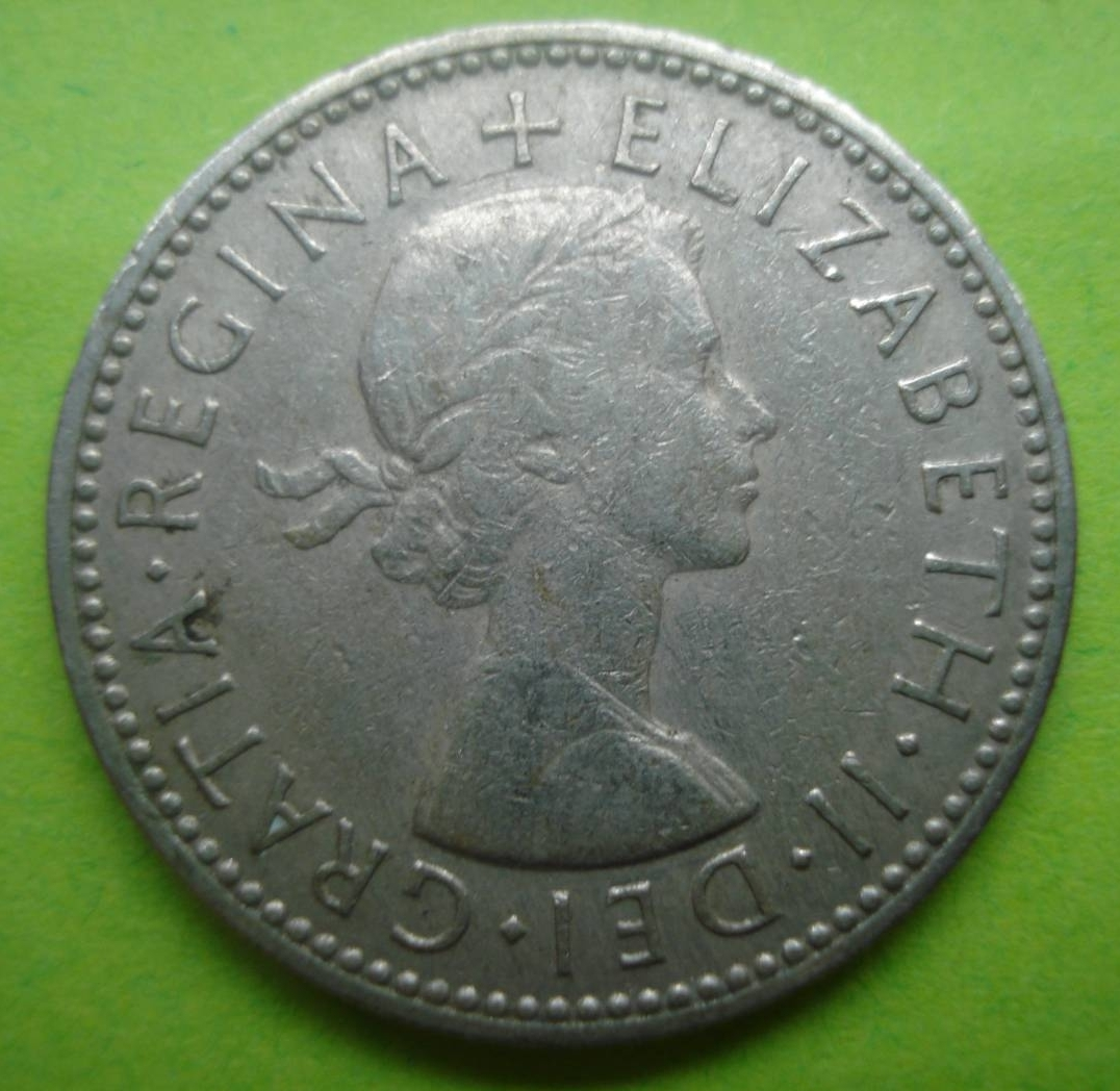 1966 one shilling coin