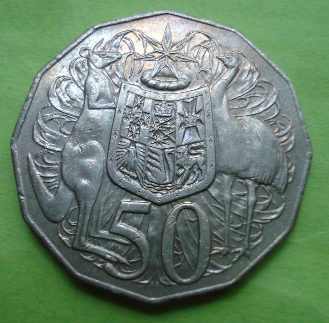 50 Cents 2009 Elizabeth Ii 1952 Present Australia