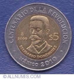 Image #1 of 5 Pesos 2009 - Revolution Centennial - Belisario Dominguez