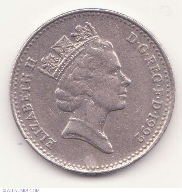 Coin Of 10 Pence 1992 From Great Britain Id 1697