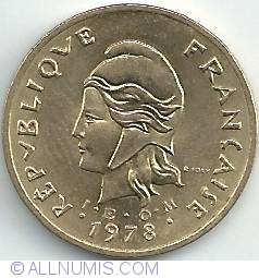 Image #2 of 2 Francs 1978