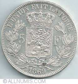 Image #1 of 5 Francs 1869