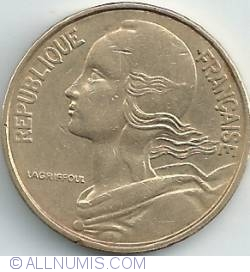 Image #2 of 50 Centimes 1963 - 3 folds In collar
