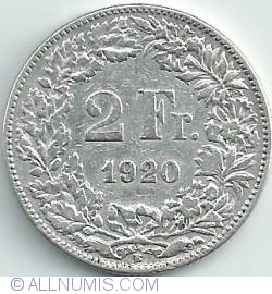 Image #1 of 2 Francs 1920