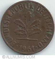 Image #2 of 2 Pfennig 1961 J