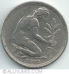 Imaginea #2 a 50 Pfennig 1970 D