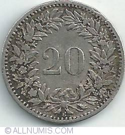 Imaginea #1 a 20 Rappen 1885
