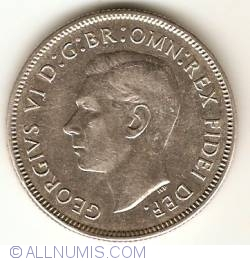 Image #2 of 1 Florin 1951 - 50th Anniversary of Federation