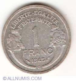 Image #1 of 1 Franc 1945 B