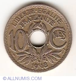 Image #1 of 10 Centimes 1918