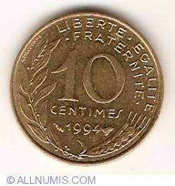Image #1 of 10 Centimes 1994 (Bee)