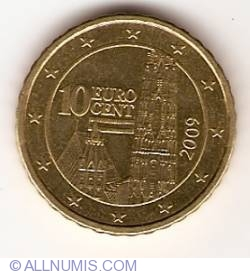 Image #2 of 10 Euro Cent 2009