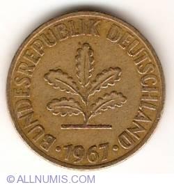 Image #2 of 10 Pfennig 1967 D