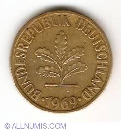 Image #2 of 10 Pfennig 1969 D