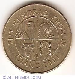 Image #2 of 100 Kronur 2001