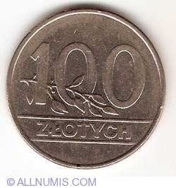Image #1 of 100 Zlotych 1990