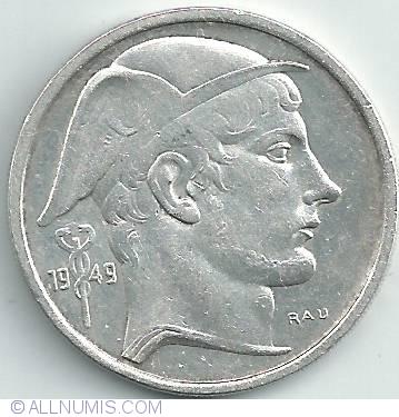 50 francs 1949 belgique leopold iii 1934 1951 belgium coin 20721. Black Bedroom Furniture Sets. Home Design Ideas