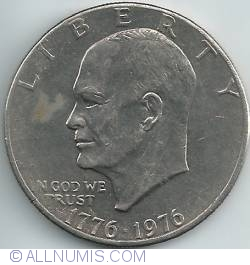 Image #2 of Eisenhower Dollar 1976 - Type II Slant-Top  T