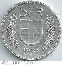 Image #1 of 5 Francs 1935